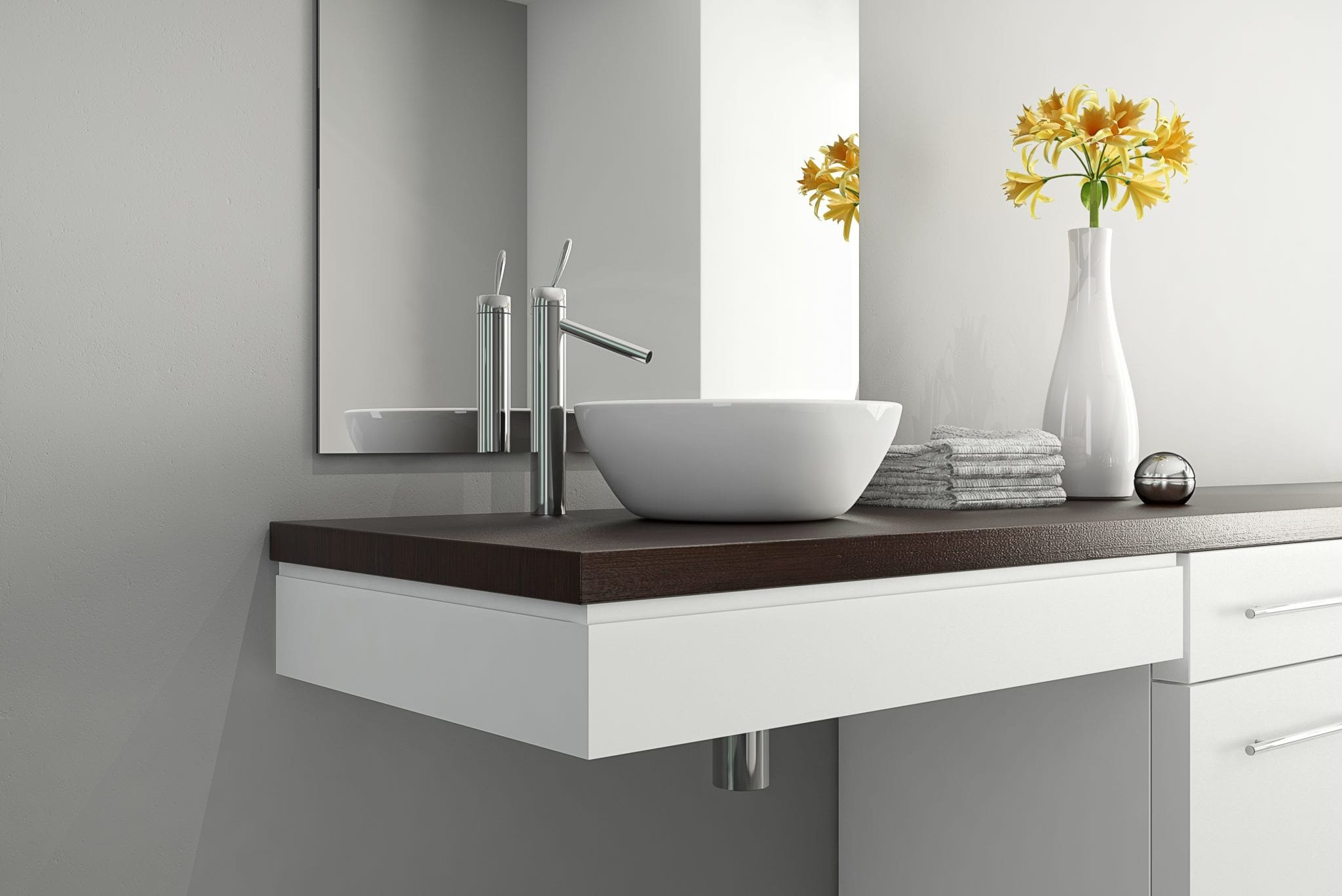 ADA Wheelchair Accessible Bathroom Sink Vanity Remodel Tyler Texas